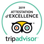 Tripadvisor - 2019 Attestation d'excellence